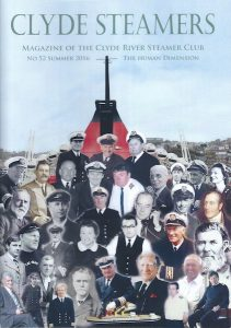 Clyde Steamers 2016 front cover